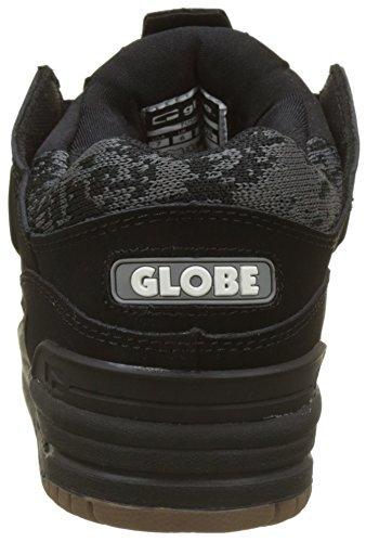 Globe Herren Fusion Skateboardschuhe, Schwarz (Black/Camo/Jacquard)