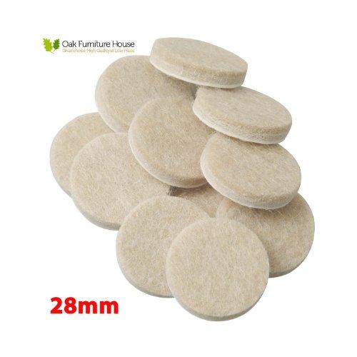 20-oak-furniture-self-adhesive-felt-pads-wood-floor-protectors-28mm