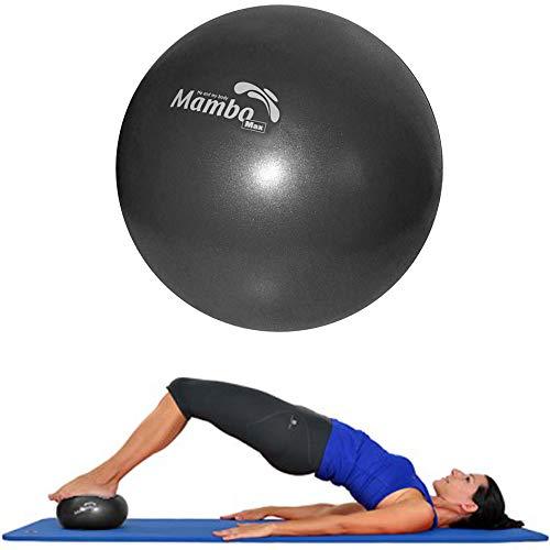 Mvs Bola 21-23 cm suave + 2 tapones + pajita, pilates gimnasia Yoga Gym Soft Over Ball - Negro