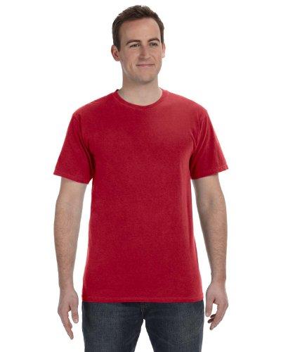 Gelber Fu§ball auf American Apparel Fine Jersey Shirt Chili