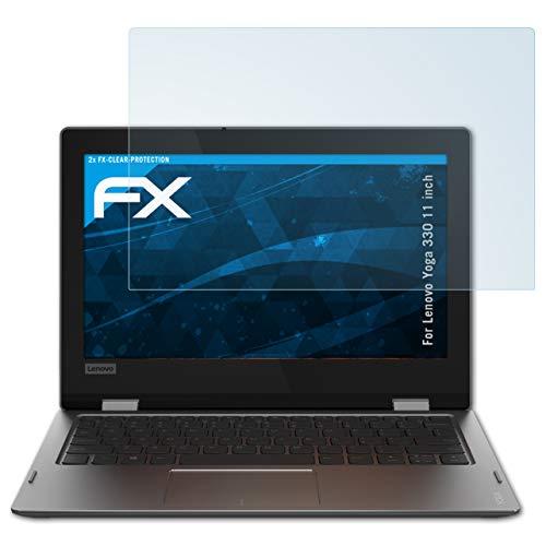 atFolix Schutzfolie kompatibel mit Lenovo Yoga 330 11 inch Folie, ultraklare FX Bildschirmschutzfolie (2X)