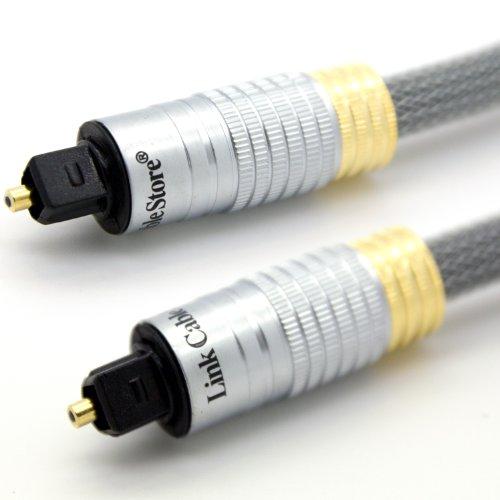 LCS - ORION PRIME - 1M - Profi Optisches Audiokabel - geschirmt / geflochten - für alle Geräte wie HD internet box, blu ray player, Apple Computer, PC-und Konsolenspielen Optimiert - Vergoldete kontakt