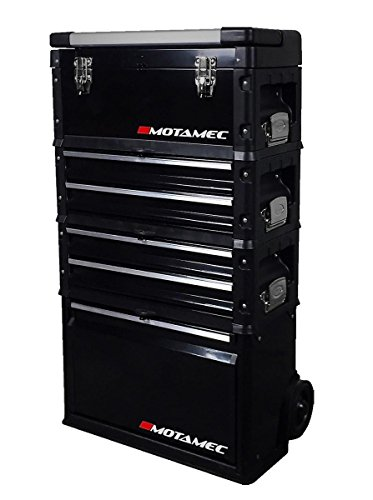 Motamec Modular Tool Box Trolley Mobile Cart 4 Module Stack Cabinet Chest C41H -