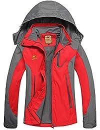 Poonkuos Giacca da Donna Inverno Cappotto Impermeabile Alpinismo Giacca a  Vento 89d13c98e0ce