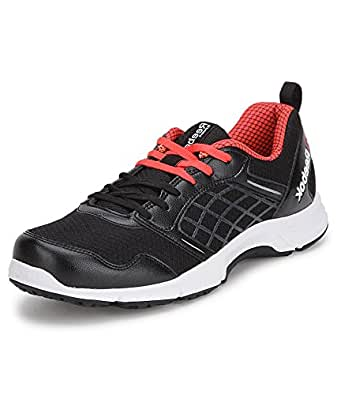 Reebok Men's Black, Mett Silver, Neon Cherry and White Road Rush Running Shoes - 6 UK/39 EU