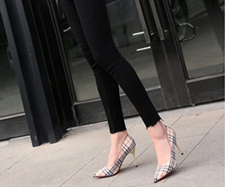 Ajunr Moda/elegante/Transpirable/Sandalias Lattice 9cm Señalaron los zapatos de tacón alto Con una multa Toda... -