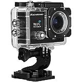 """Excelvan TC-Q5 Full HD Étanche Camera Sport 2.0"""" LCD WIFI 1080P 170 degrée + Kit de Support Mounts - Noir"""