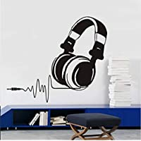 Escuche Música Auriculares Etiqueta De La Pared Decoración Para El Hogar Sala De Estar Vinilo Arte