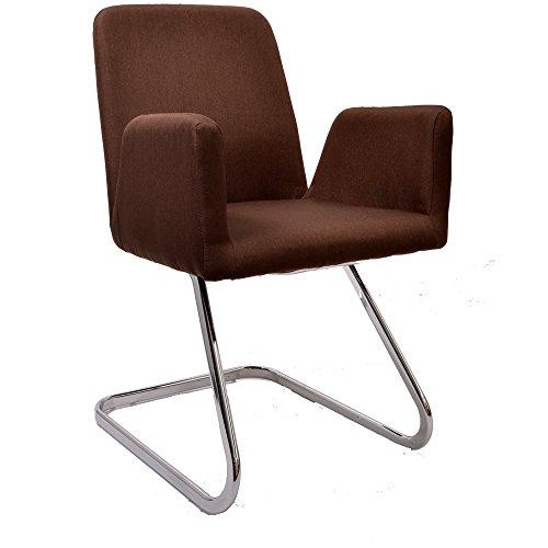 Promafit Lounge Stuhl Freischwinger Beatrice mit Armlehnen - Küchenstuhl - Viele Farben - Retro...