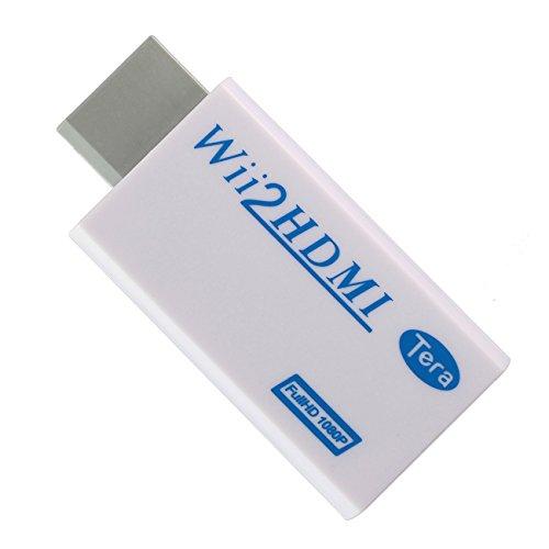 Tera® HDMI Konverter Adapter für Wii an HDMI (Wii2HDMI) 1080P, 720p mit HDMI-Anschluss /3,5 mm Stereo-Audio-Buchse Weiß