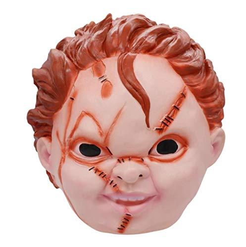 FIREWSJ Halloween Maske Kinderspiele Evil Cherry Mask Spielzeug Halloween Party Kostüm Latex Maske (Kleinkind Kostüm Chucky)