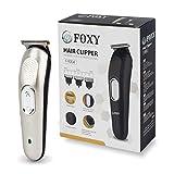 Foxy Cordless Rechargeable Beard Trimmer for Men, Model No. 9004, Fully Metallic Golden