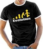 Touchlines Herren T-Shirt Evolution , Schwarz/Weiss,  XXL