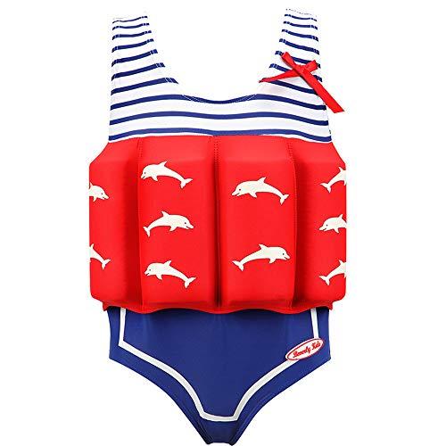 Kinder Bojen Badeanzug-Badeanzug mit Schwimmhilfe Schnelltrocknende Jungen und Mädchen Trainings Badeanzüge/Röckchen Schwimmbad Strand(Verschiedene größen)