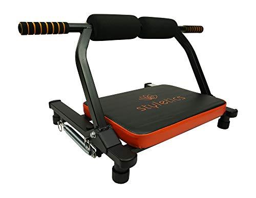 Styletics Sixpack Bauchmuskeltrainer Bauchtrainer Bauch Fitness Sixpack (Schwarz/orange)
