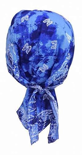 Rocker Bandana Cap - Blaues Batik Paisley