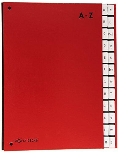 Pagna 24249-01 Pultordner, A-Z, Color-Einband, 24-teilig, rot