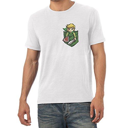 TEXLAB - Link in a Pocket - Herren T-Shirt Weiß