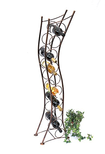 Weinregal Metall Stehend Art.244 Flaschenständer 125 cm Flaschenhalter Flaschenregal