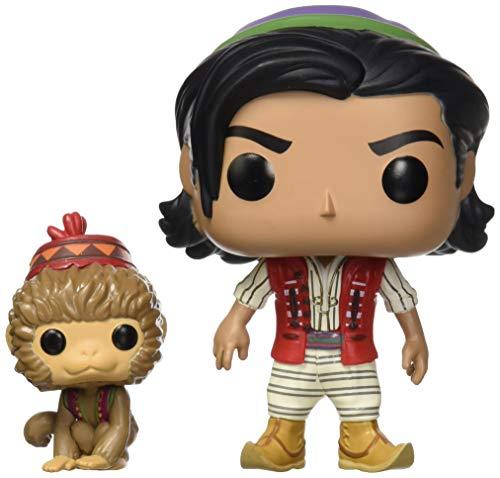 Funko- Pop Vinilo: Disney: Aladdin (Live Action): Aladdin & Abu Figura Coleccionable, (37022)