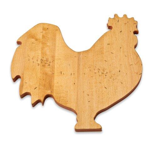 J.K. Adams 13-Inch-by-8-Inch Maple Wood Cutting Board, Rooster-Shaped by J.K. Adams -