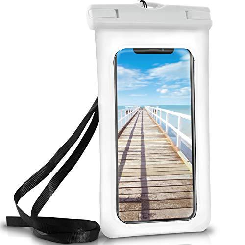 ONEFLOW Wasserdichte Hülle iPhone | Full Cover in Weiß 360° Unterwasser-Gehäuse Touch Schutzhülle Handy-Hülle für Apple iPhone X XS XS Max 8 7 7Plus/8Plus 6S 6 Plus 5 5S XR Case Handy-Schutz