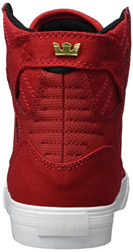 Supra Skytop, chaussons d'intérieur mixte enfant Rot (Red / White)
