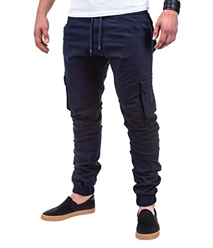 BetterStylz - Pantalon - Homme Multicolore Multicolore Bleu Marine