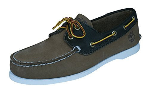 Timberland Brig 2eye Boat Herren Wildleder Boot/Deck Schuhe-Brown-44 (Timberland Shoes Deck)