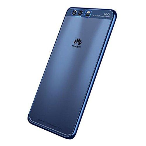 """Huawei P10 Plus (5.5"""") Hülle, MSVII® Durchsichtig Weich TPU Silikon Bumper Hülle Schutzhülle Case Und Displayschutzfolie für Huawei P10 Plus (5.5"""") - Gold JY60029 Blau"""