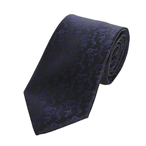 Z-P Mens Luxury Elegant Necktie Floral Black Luxury Elegant Necktie Knit Woven Jacquard Skinny Tie