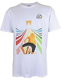 Tour de France Tdf-SA-3081 L T-Shirt Adulte Homme, Blanc, FR : L (Taille Fabricant : L)