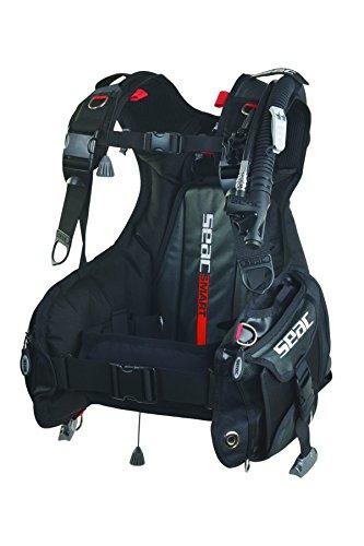 Seac Smart Gilet de plongée avec Poche intégrée Mixte Adulte, Noir Rouge, Taille XXS