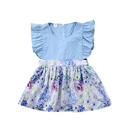 Wang-RX Vestido de Princesa del Vestido del Vestido de Princesa del Vestido de la Princesa del Vestido de la Flor sin Mangas Linda del bebé del niño pequeño