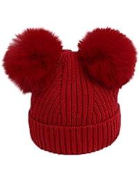 Elecenty Cappello Berretti Invernali Ragazzo e Ragazza - Crochet Cappello  Maglia - in Cotton Caldo - 1440dd5f147a