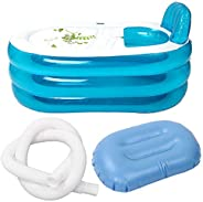 Goolsky Portable Foldable PVC Thickened Inflatable Bathtub Home Camping Travel Bath Tub for Adult and Child