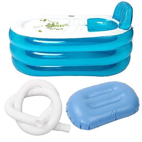 Walmeck- Tragbare Faltbare PVC verdickte aufblasbare Badewanne Home Camping Travel Badewanne für Erwachsene und Kinder