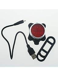 NSD lumière rouge pour vélo Rechargeable USB 3LED pour vélo arrière Tail Light avec batterie à l'intérieur