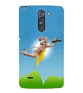 Lord Hanuman 3D Hard Polycarbonate Designer Back Case Cover for LG G3 Stylus :: LG G3 Stylus D690N :: LG G3 Stylus D690