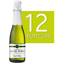 Lote de 12 Botellines Botellas Cava Jaume Serra Brut Nature 375ml - Vinos Baratos para Detalles