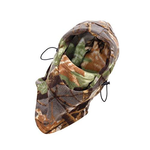 Inverno Cappuccio In Pile A Doppio Strato Caldo Pieno Facciale Maschera Di Protezione Per La Testa -woodland Camuffamento