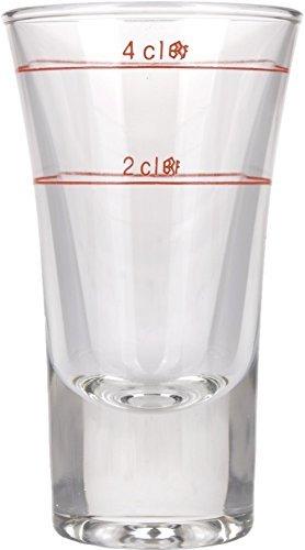Bormioli Rocco 169249 Dublino Schnapsglas, Shotglas, Stamper, 57 ml, mit Füllstrich bei 2cl + 4c, Glas, transparent, 6 Stück