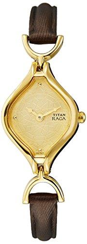 41qXs bqiTL - Titan 2531YL02 Gold Women watch