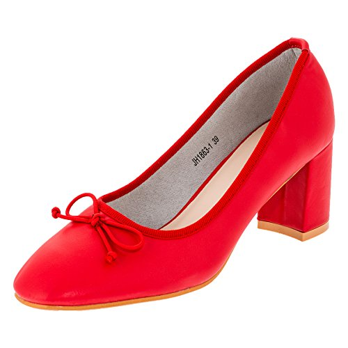 CinkMe , Chaussons montants femme #832rt Rot