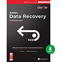 Stellar Data Recovery Software V9 | Windows | Professional | 1 PC 1 Year | Email Delivery