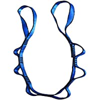 Pawaca - Cadenas de yoga con diseño de margaritas, para yoga, columpio/margarita, para colgar en la cinta, correas de extensión para interiores y exteriores, cordón de seguridad ajustable de nailon, Azul