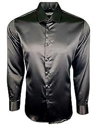 XL it Abbigliamento Uomo camicia Amazon seta uomo BwqBId