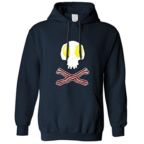 & Cross Bones-Geschenk-Idee Logo Frühstück Kapuzenpullover (Speck Halloween)