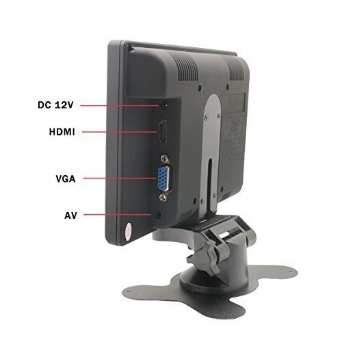Sourcingbay 7 Digital TFT LED Color Receiver vehicle PC Monitor HDMI VGA AV feedback Monitors