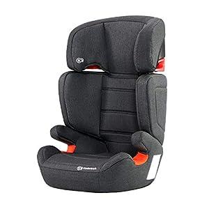 Kinderkraft Kinderautositz Junior Fix Autokindersitz Autositz Kindersitz mit Isofix 15-36kg Gruppe 2 3 ECE R44/04 geprüf Schwarz